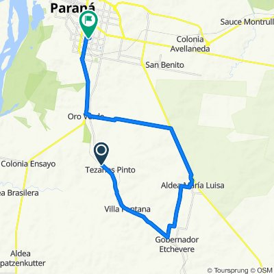 Ruta a Intendente Casariego 1323–1399, Paraná