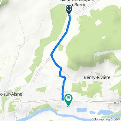 Itinéraire à partir de 1 Rue de Cagny, Saint-Christophe-à-Berry