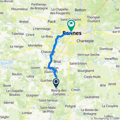 De Moulin de la Bouëxière, Guichen à 16 Rue Saint-Michel, Rennes