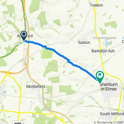 Bunkers Hill, Aberford to Sir John's Lane 4, Sherburn in Elmet