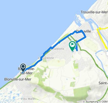 De 119 Avenue du Littoral, Benerville-sur-Mer à Domaine de Clairefontaine, Deauville