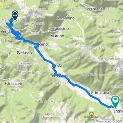 Da Unnamed Road, Vendrogno a Via Coldirone 16, Introbio