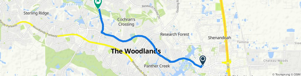 9560–9590 Grogans Mill Rd, Spring to 9323 Cochrans Crossing Dr, Spring