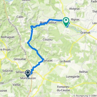 De Rue Dreche 7, Montfaucon à Unnamed Road, Rocamadour