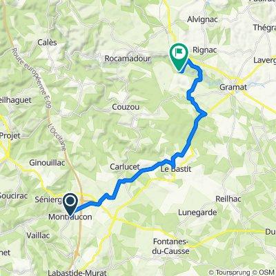 De Rue Dreche 6, Montfaucon à Unnamed Road, Rocamadour