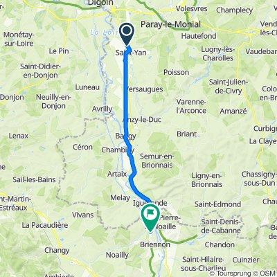De D982, Varenne-Saint-Germain à Route de Melay 163, Briennon
