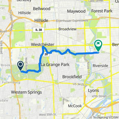 Route to 2507 Westover Ave, North Riverside