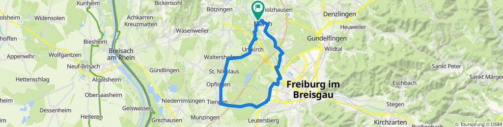 March - Opfingen - Tiengen - Keidel-Bad - Dietenbach - Moosweiher - March
