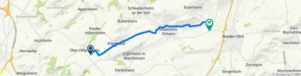 Route nach Ingelheimer Straße, Nieder-Olm