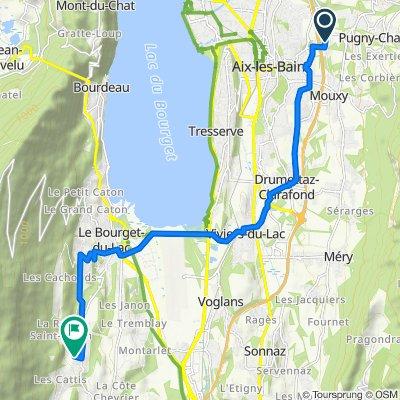 De 71 Route de Pugny, Aix-les-Bains à 54 Chemin des Pizons, Le Bourget-du-Lac