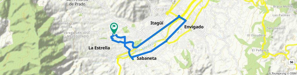 Ruta desde Calle 75s 52-2–52-78, Medellín