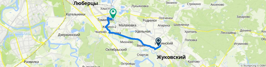 Kolkhoznaya Ulitsa 4, Il'inskii to улица Беляева 10, Tomilino