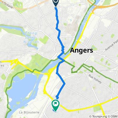 De 10 Rue René Tranchant, Angers à 15 Avenue Jean XXIII, Angers