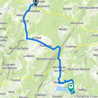 Itinéraire à partir de Route de Genève, Poligny