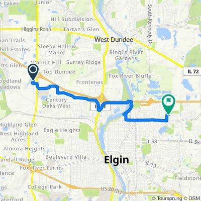 1670 Capital St, Elgin to 1156 Clover Hill Ln, Elgin