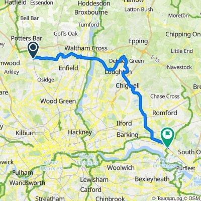 Hadley Wood to Rainham