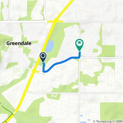 Restful route in Greendale