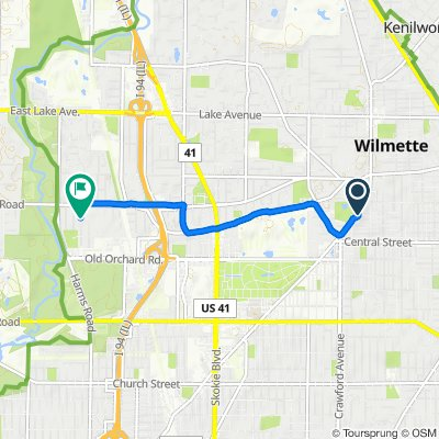 2737 Gross Point Rd, Evanston to 706 Echo Ln, Glenview