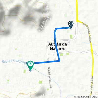 De Avenida Carlos Santana 245, Autlán de Navarro a Calle Sor Juana Inés de la Cruz 39, Autlán de Navarro