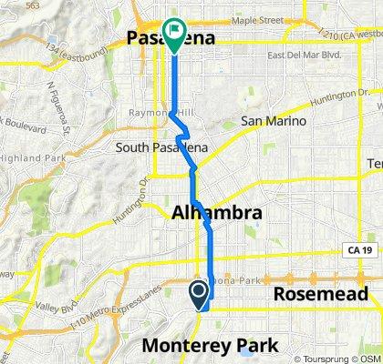 West Garvey Avenue 780, Monterey Park to Cordova Street 378, Pasadena