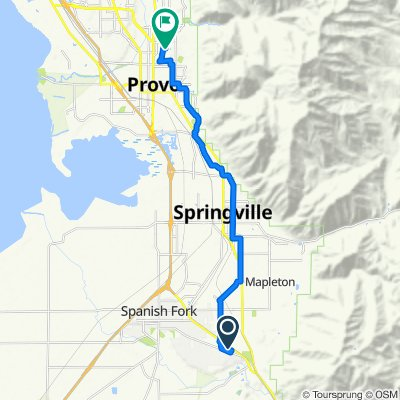 South 2880 East 1148, Spanish Fork to Campus Drive, Provo