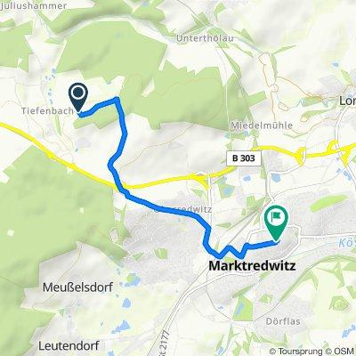 Unnamed Road, Bad Alexandersbad nach Kolpingstraße 15, Marktredwitz