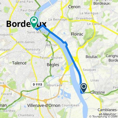 De 52 Chemin du Port de l'Homme, Latresne à 21 Rue Sainte-Colombe, Bordeaux