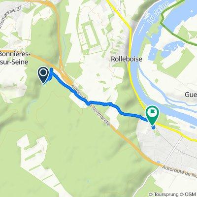 Route from Unnamed Road, Bonnières-sur-Seine
