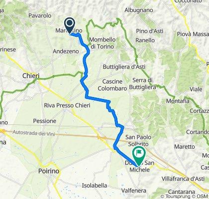 Da Via Roma 50A, Marentino a Via San Rocco 15, Dusino San Michele