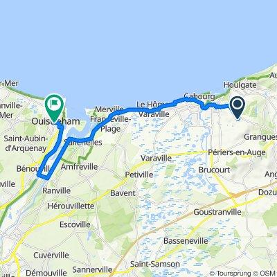 De Route de Lisieux 2500, Dives-sur-Mer à Place Albert Lemarignier 11, Ouistreham