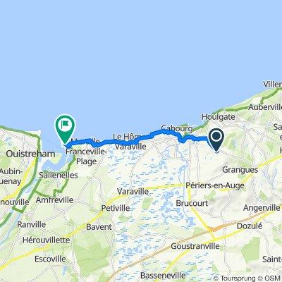 De Route de Lisieux 2500, Dives-sur-Mer à Merville-Franceville-Plage