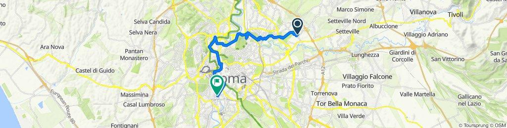 Da Via Filottrano 15, Roma a Via Nicolò Bettoni 7, Roma