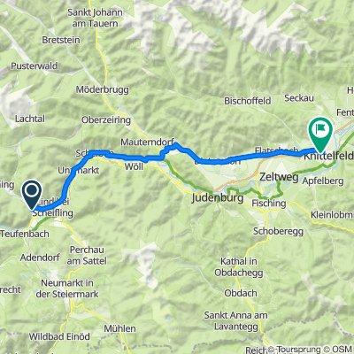 Route von Hinterbichl, Niederwölz