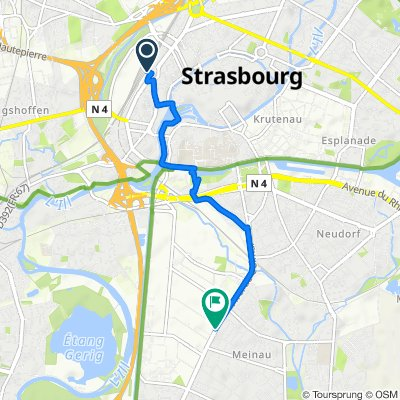 2016-1 Strasbourg rail station to Colmar Ave hotel (France)