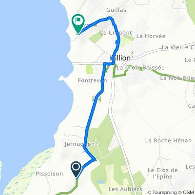 De 4 Route des Grèves, Hillion à 15 Rue de l'Étoile, Hillion