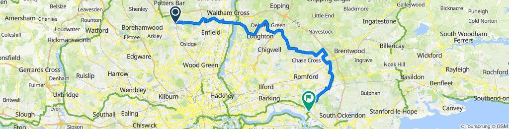 Hadley Wood to Rainham 2