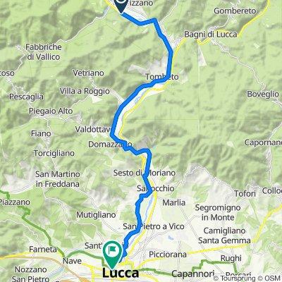 Da Via Provinciale Distrib., Coreglia Antelminelli a Viale Lazzaro Papi 267, Lucca