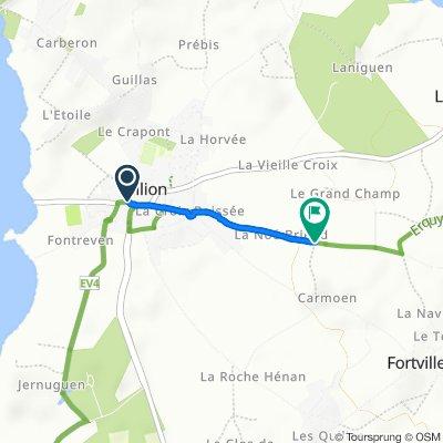 De 2–12 Place de l'Église, Hillion à 41–47 Rue de la Noé Briens, Hillion