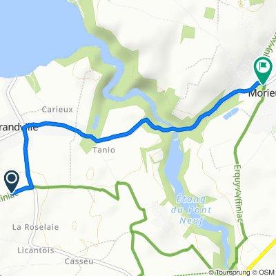 Itinéraire vers 2–8 Place du 8 Mai 1945, Morieux