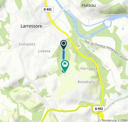 Itinéraire à partir de Latxaldéa, Larressore