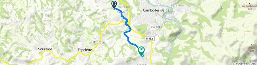 Itinéraire vers 76 Irigoineko Bidea, Itxassou