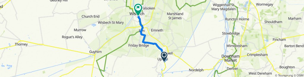 47 Lister's Road, Wisbech to 10–31 Orange Grove, Wisbech