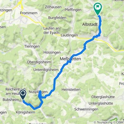Bärastraße 10, Egesheim nach Konrad-Adenauer-Straße 180, Albstadt