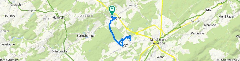 De Chemin du Parc 124, Somme-Leuze à Chemin du Parc 124, Somme-Leuze