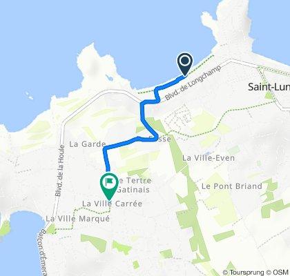 De Rue du Nerput 13, Saint-Lunaire à Chemin de la Souris 2, Saint-Briac-sur-Mer