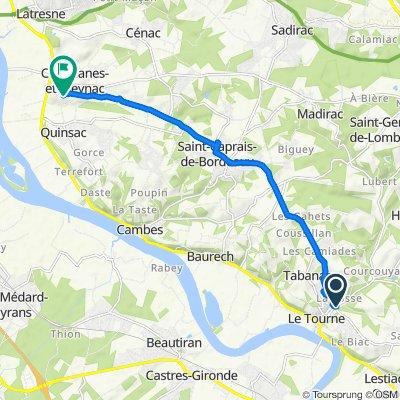 De 1 Route de Créon, Langoiran à 2–4 Chemin de la Chausse, Camblanes-et-Meynac