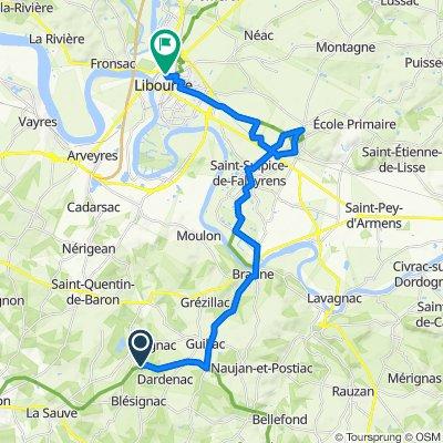 De Au Petit Moulin Sud 5, Espiet à Allée Robert Boulin 17, Libourne