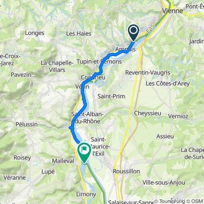 Itinéraire à partir de D386, Ampuis