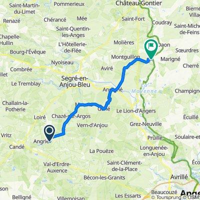Itinéraire vers Impasse du Rocher, La Jaille-Yvon