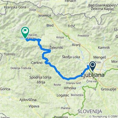 Ljubljana - Bohinjsko jezero